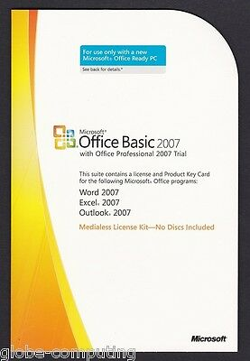 Microsoft Office 2007 Basic Edition PKC S55-02515 Word Outlook Excel