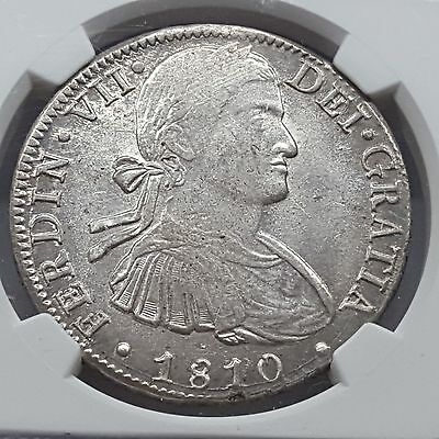 Colonial Mexico 1810 MO HJ 8 Reales Silver MS 61 NGC