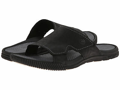 3561202f1f2d Merrell Terracove Delta Men Leather Slide Sandals J21763 Casual Shoe Black  Sz 12