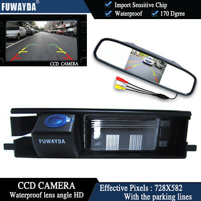 4.3'' Mirror Monitor CCD Rear View Reverse Camera for Toyota RAV4 2006-2012