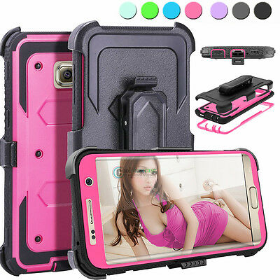 Hybrid Shockproof Belt Clip Holster Cover Case For Samsung Galaxy S6 edge+ Plus