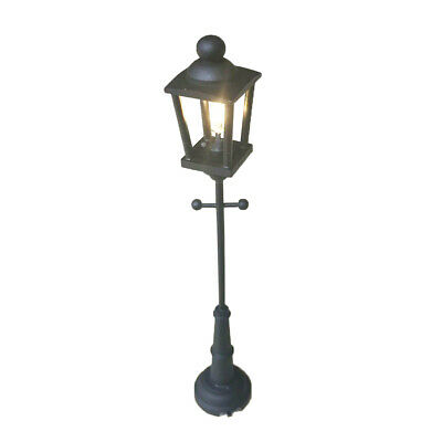 Dollhouse Miniature LED Light Street Lamp Black Battery Operated With Switch NEW