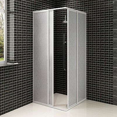 New Shower Cabin Enclosure PP Board Bathroom Universal Aluminium Frame 3 Sizes