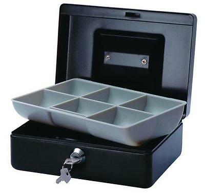 Esselte No.8 Classic Cash Box - BLACK - 200 x 150 x 80mm - 2 KEYS - # 375086