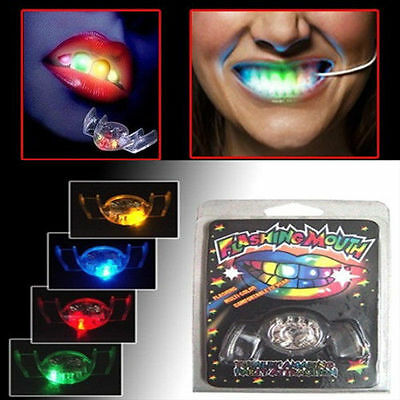 Glow Tooth Light Up Mouthpiece LED Mouth Guard Flashing Teeth Mouth Party Favors