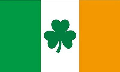 5' x 3' Ireland Shamrock Flag Eire Rugby Irish Euro 2016 Football Banner