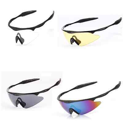 UV400 Tactical Sports Police Shooting Eye Protect Glasses Clear For Cycling