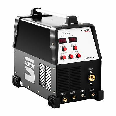 Combined Tig Mig Mag Welder 230 V Mma Braze Arc Welding Machine Inverter 220 A