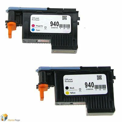 2-Pack 940 PRINTHEAD C4900A & C4901A for HP OfficeJet Pro 8000 8500