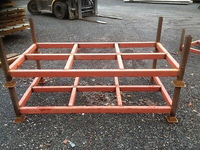Post Pallet 1.950 Mtr Long 1.020 Mtr Wide 550 mm High, Used - Stacking Pallet -