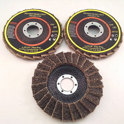 """Surface Conditioning Discs T29 4.5""""x7/8"""" Coarse Grit - 3pc Set"""