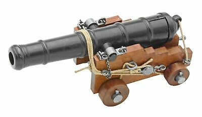 """British 18th Century Naval Cannon with Wood Trunk 10.75"""" Miniature Replica"""