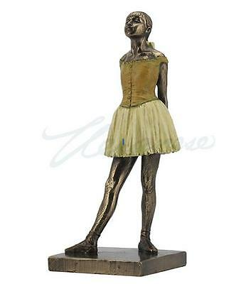 Degas Little Dancer Fourteen Years Replica Bronze Color 7.5H 8802
