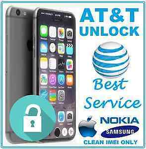 AT&T Unlock Code For iphone, Samsung & Nokia