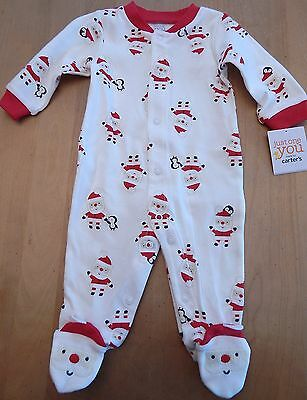 Carter's Just One You Infant Christmas Pajamas Size 3 Months