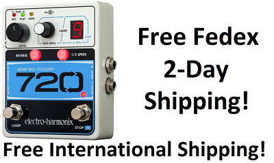 New Electro-Harmonix EHX 720 Stereo Recording  Looper Guitar Effects Pedal!