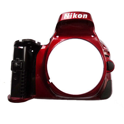 Original Red Front Cover Case ASSY Repairment Assembly For Nikon D5200 Camera