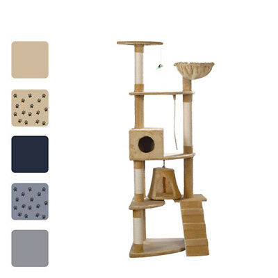 New Cat Tree Plush Pet Scratching Post Toy Bed 191 cm 2 Condo 5 Optional Colours