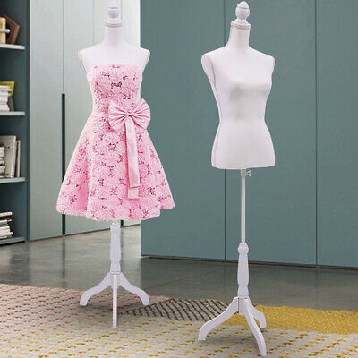 White Mannequin Female Torso Clothing Display W/ Dress Form Maniquin