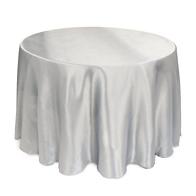 """12 PACKS 108"""" inch Round SATIN Tablecloth WEDDING 25 COLOR table cover USA SALE"""