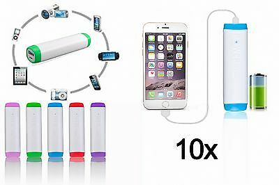10x LOT 2600mAh Portable Backup Battery Charger Power Bank For iPhone 6 6s 7