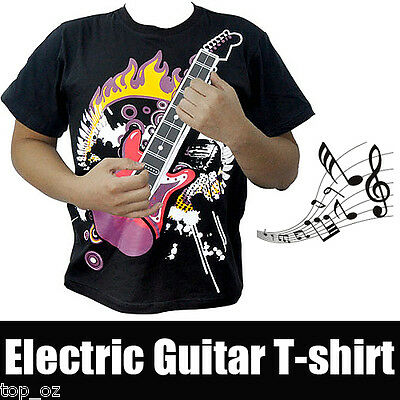Xmas/NY Gift (see video) Playable Electronic Guitar T-Shirt for DJ/Party/Concert