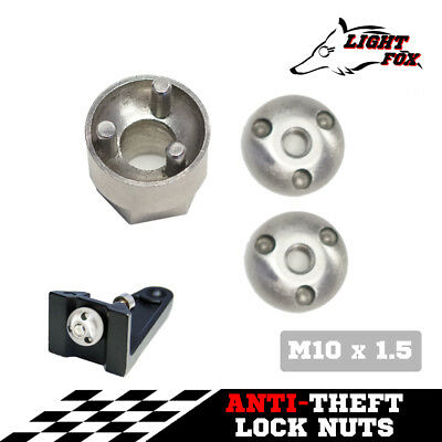 M10 Anti Theft Tamper Security Lock Nuts LED Bar Work Driving Light 6mm 8mm 10mm