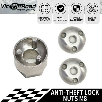 M8 Anti Theft Tamper Security Lock Nuts LED Bar Work Driving Lights 6mm 8mm 10mm