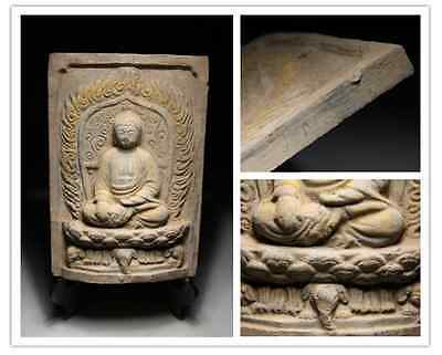 Chinese Old Collection Buddha Statue  / size w 19 h 27cm  2240g