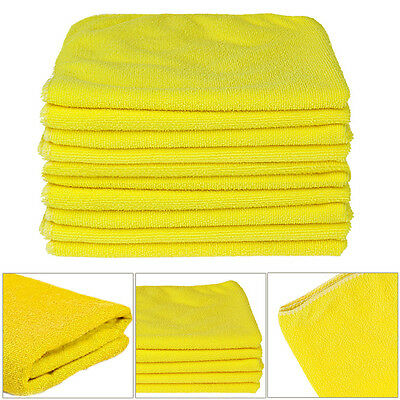 10 x Large Microfibre Cleaning Auto Car Detailing Cloths Wash Towel Duster UK