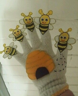 Felt Story/glove Puppet/educational Teacher Resource -Here Is The Beehive
