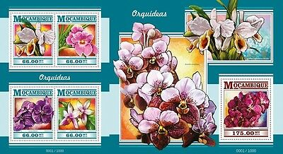 Z08 Imperforated MOZ15321ab MOZAMBIQUE 2015 Orchids MNH Set