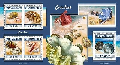 Z08 Imperforated MOZ15325ab MOZAMBIQUE 2015 Shells MNH Set