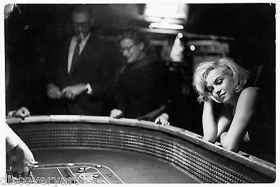 Marilyn Monroe Playing Craps Canvas Movie Poster Wall Art Print Poker Games room