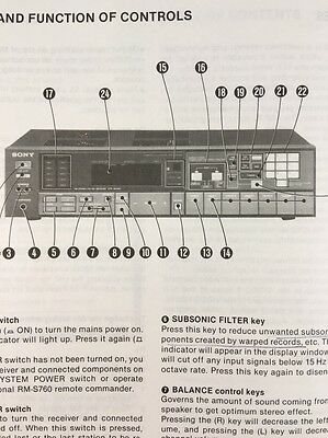 Sony STR-AV460 Stereo Receiver Original Owners Manual 22 Pages strav460