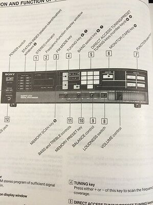 Sony STR-AV240 Stereo Receiver Original Owners Manual 14 Pages strav240
