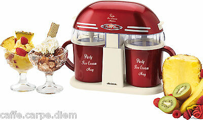 ARIETE 631 Twin Ice Cream Maker Party Time - Doppia gelatiera 2 x 400 ml 10W