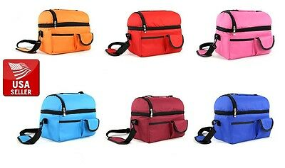 Waterproof Picnic Bag Insulated Thermal Lunch Box Cooler Storage Tote
