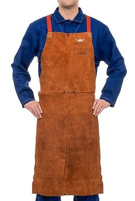 WELDAS Heavy Duty Welders Protective Bib Apron, Lava Brown, VERY HIGH QUALITY