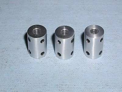 RIGID SHAFT COUPLERS or COUPLINGS - 6mm- QTY 3 6061    ***GET THESE FAST***
