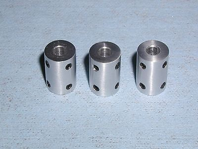 SHAFT COUPLERS or COUPLINGS - 6mm- QTY 3 ALUMINUM 6061 ESG 6mmSC
