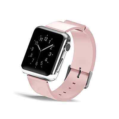 38mm Genuine Leather Watch Strap Wrist Band Replacement for Apple Watch Pink New