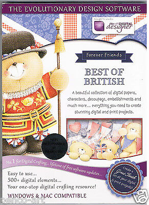 Docrafts Papermania Scheibe Forever Friends Best of Britisches CD Rom Digital