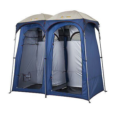 OZtrail Ensuite Duo Dome Tent Bathroom Shower Toilet Camping Privacy 225cm