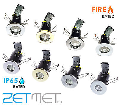 6 x Fire Rated/IP65 Bathroom GU10 LED Recessed Ceiling Downlight Spotlight Light