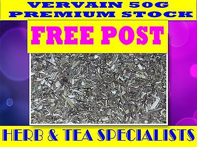 VERVAIN 50g ☆100% Verbena officinalis☆HERBAL☆PREMIUM STOCK ☆DRIED HERB☆FREE POST