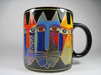 Laurel Burch Cat Face Mug 2004 Excellent Condition