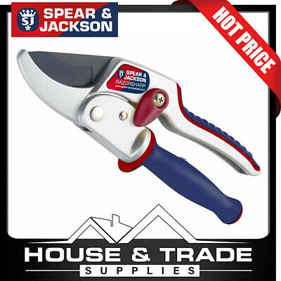 Spear & Jackson RazorSharp Ratchet Anvil Secateurs with Ergo Twist Handle 6458RS