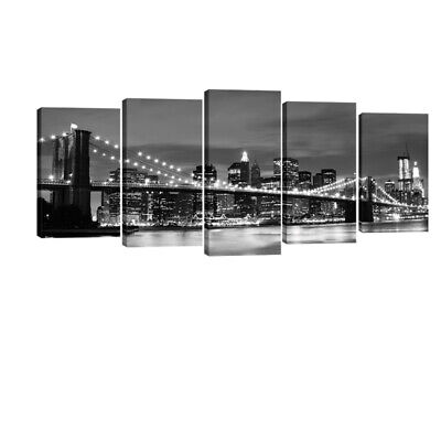 Canvas Print Wall Art Painting Photo Pictures Home Decor Gray New York Cityscape