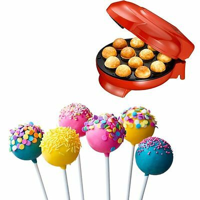 Cake Pop Maker Red With Cooling Stand Plus Cake Pop Sticks and Cooling Tray NEW
